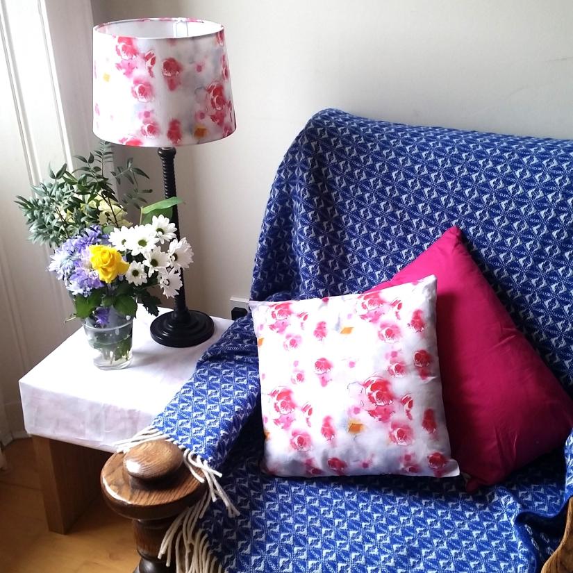 cushion and lamp shade